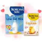 Special Bundle - Tropicana Slim Low Fat Milk &Tropicana Slim Hokkaido Cheese Cookies