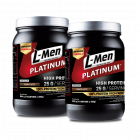 FS - Twin Pack: L-Men Platinum Choco Latte 800gr (25 protein / serving)