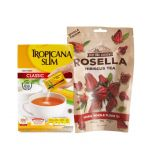 Tea Time Package: Tropicana Slim Classic (100 Sch) + East Bali Cashews Rosella Tea 35gr