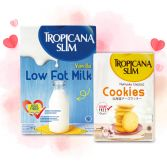 Special Bundle - Tropicana Slim Low Fat Milk & Tropicana Slim Hokkaido Cheese Cookies