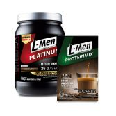 L-Men Platinum Choco Latte 800gr + L-Men Proteinmix Coffee (6 Sch)