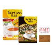 Nutrimart xDekornata: Tropicana Slim Sweetener Classic 100S & Café Latte 10S FREE Celine Coffee Tray