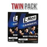 Twin Pack: L-Men Gain Mass Chocolate 500gr