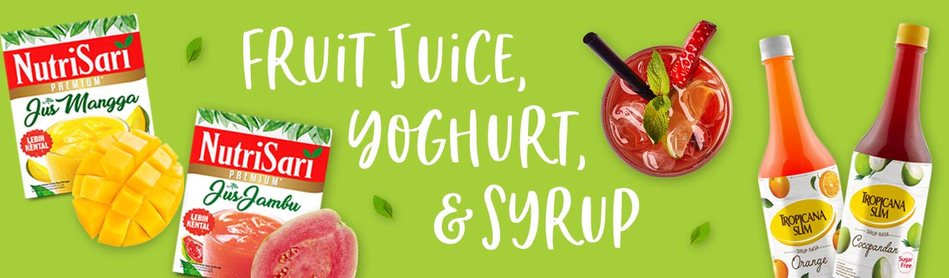 Category Fruit Juice, Yoghurt, and Syrup